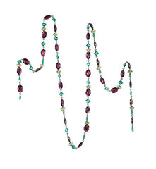 Katherine's Collection Aqua and Purple, Jewel Garland 6 Ft.