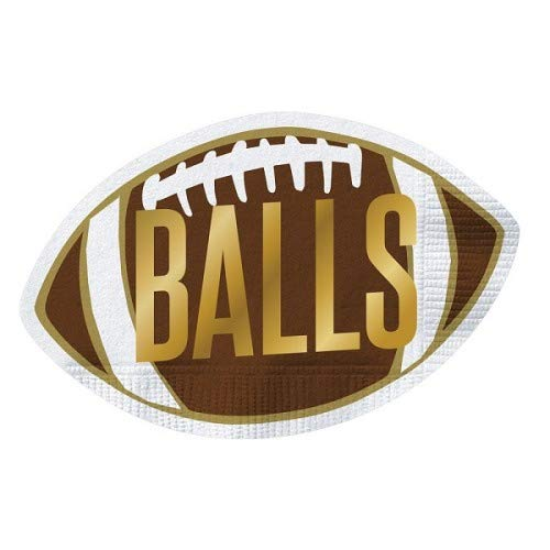 Die-Cut Football Shape Balls Paper Napkins