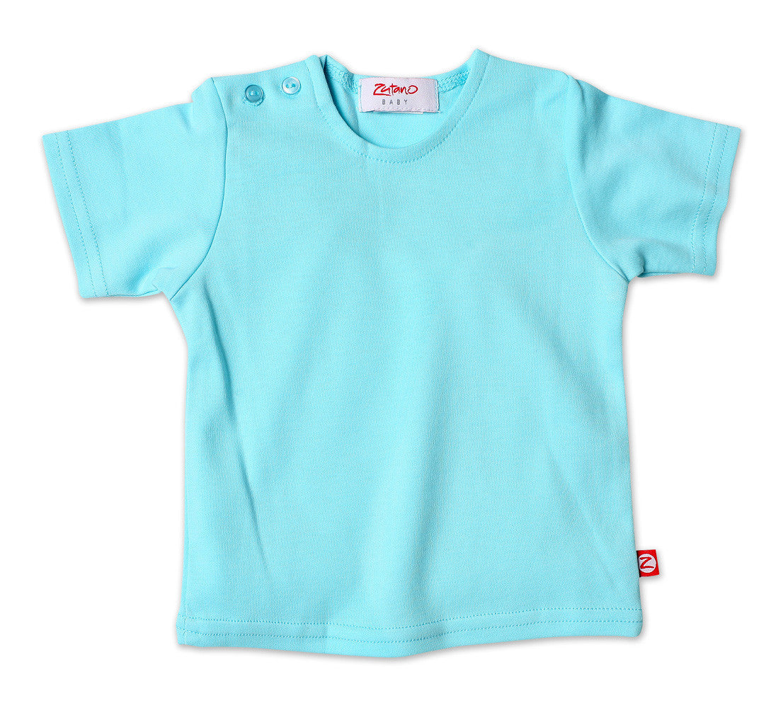 Aqua Short Sleeve Tee Shirt