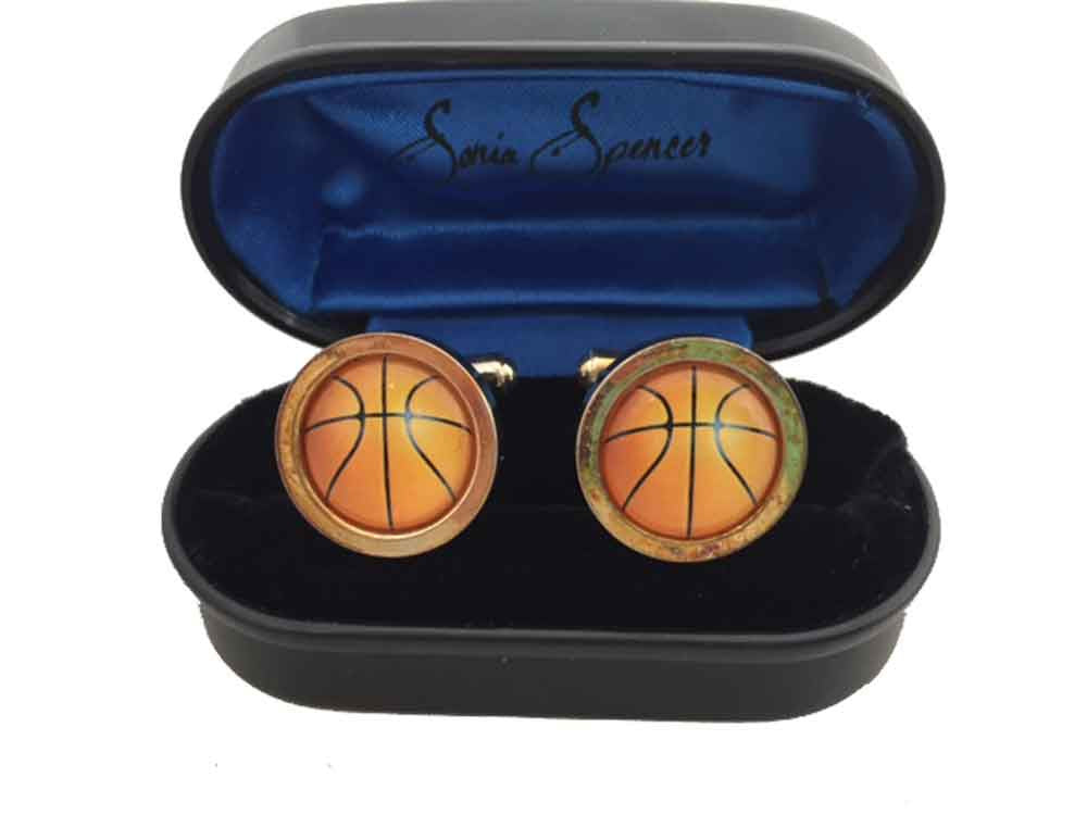 Sonia Spencer Basketball Cufflinks