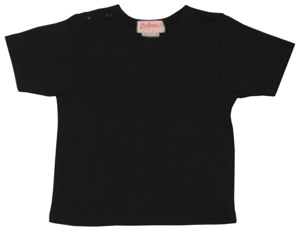 Black Short Sleeve Baby Tee Shirt