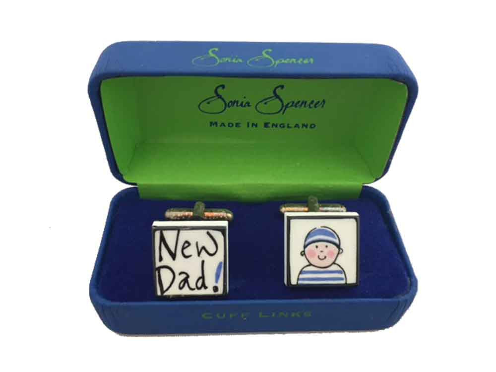 Sonia Spencer New Dad Cufflinks (Boy)