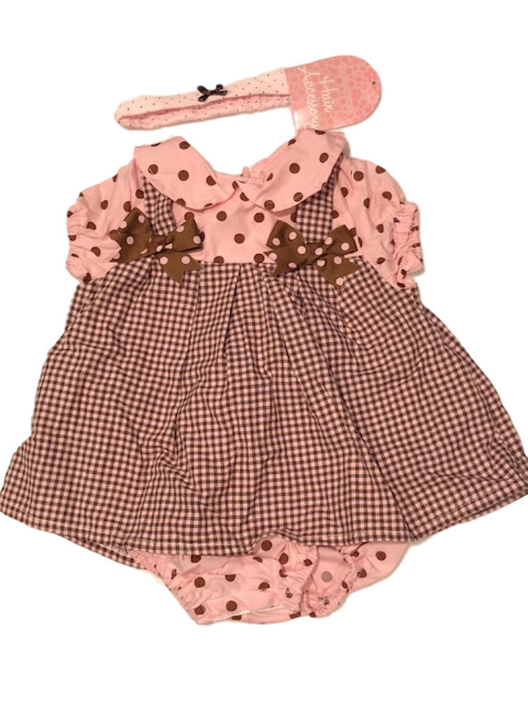 Pink and Brown Polka Dots Bubble Dress