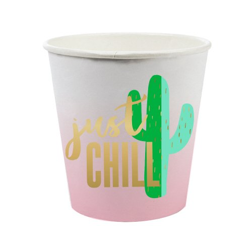 """Just Chill"" Paper Shot Glasses"