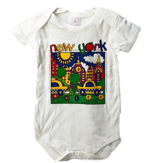 New York City Scene Baby One Piece