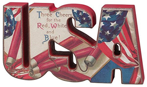USA Chunky Word Decoration