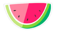 Die-Cut Watermelon Slices Paper Plates