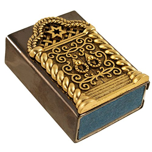Quest Collection Golden Star of David Matchbox Holder Set