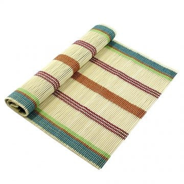 Multicolor Stripe Bamboo Table Runner