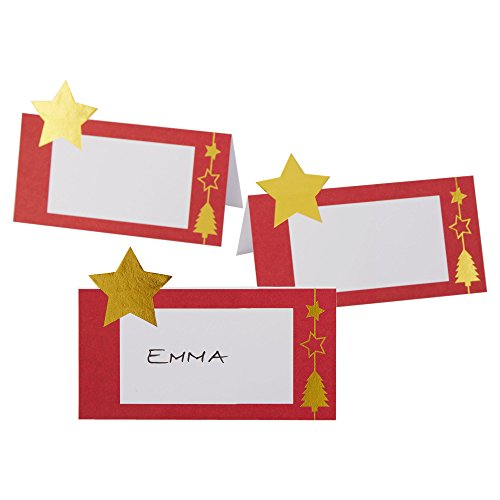Dazzling Christmas Gold Star Place Cards