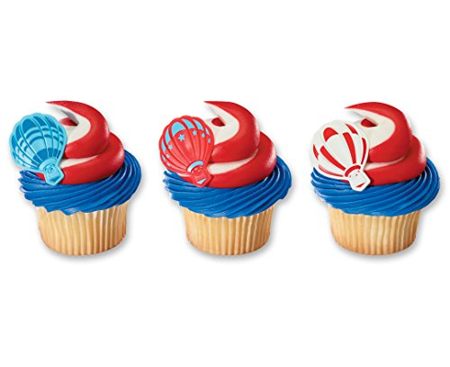 DecoPac Hot Air Balloon Cupcake Rings (12 Count)