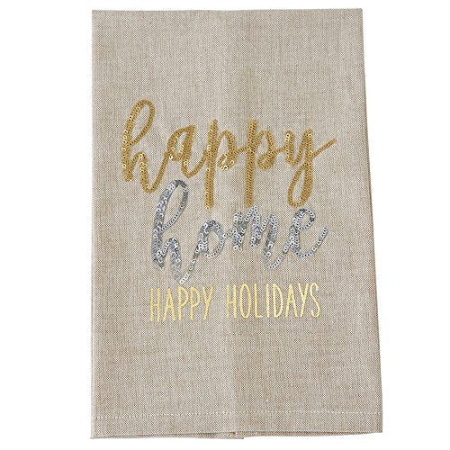 Sequin Happy Home Hand Towel