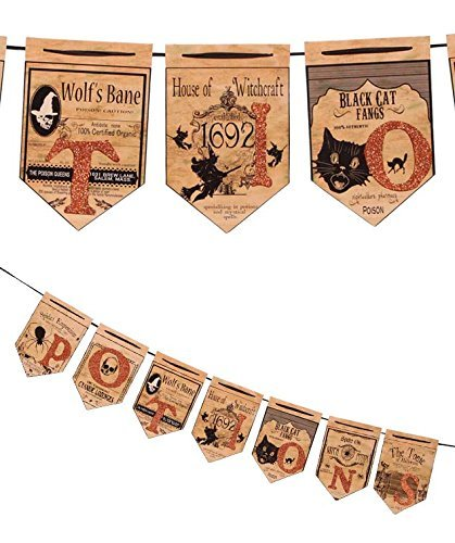 Halloween Potions Pennant Garland