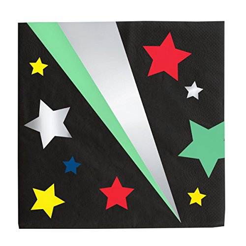 Color Stars and Silver Foil Luncheon Napkins (16 ct)