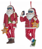 Kurt Adler Cool Yule Santa Ornaments (Set/2)