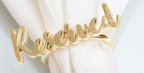 "Gold ""Reserved"" Napkin Ring"
