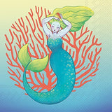 Colorful Mermaid Paper Beverage Napkins