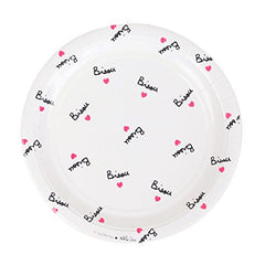 Bisou and Hearts Paper Luncheon Plates (8 ct)