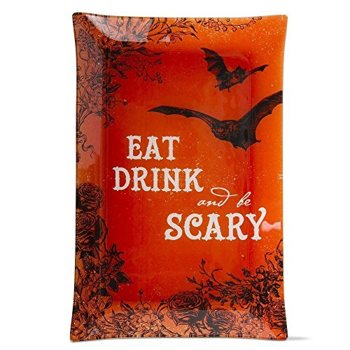 Eat, Drink and Be Scary Glass Plate