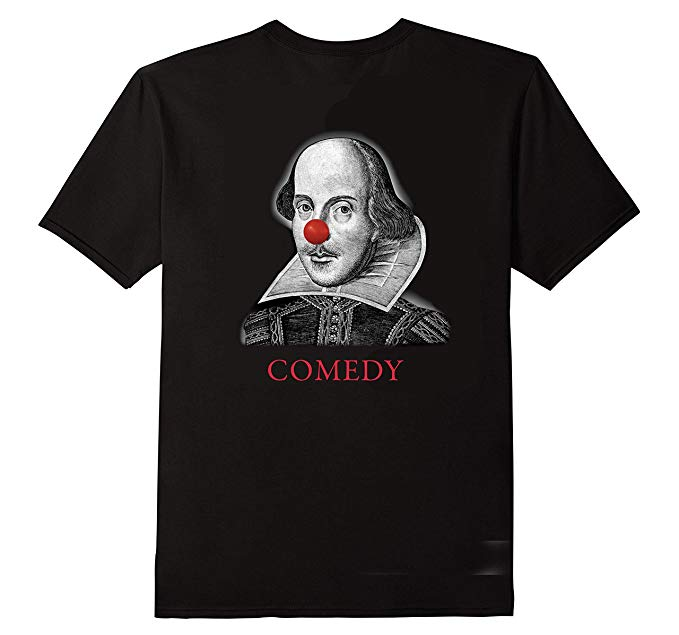 Shakespeare Comedy Tragedy Tee Shirt