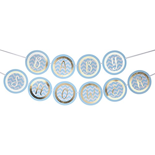 Neviti Pattern Works Blue Baby Shower Garland