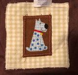 Patchwork Dog Pattern Infant Shorts with Matching Tee and Hat