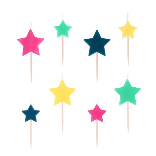 Multi Color Stars Candles