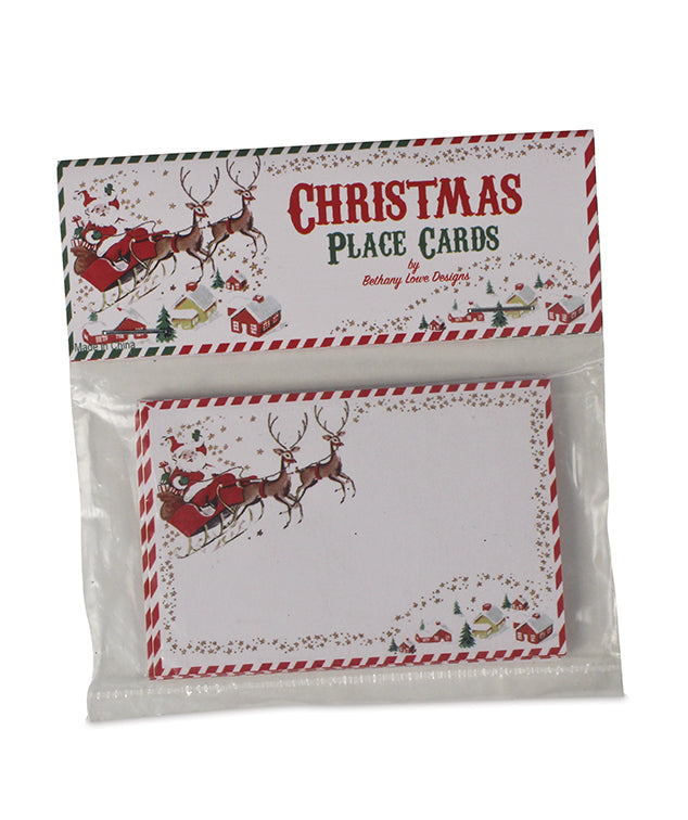 Bethany Lowe Retro Santa Placecafrds Package of 12