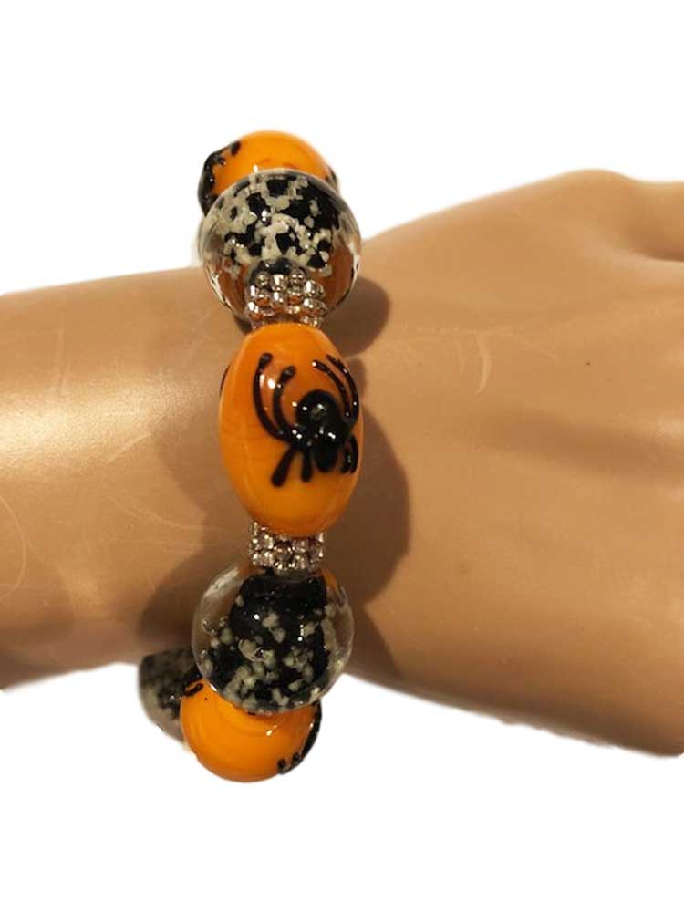 Bethany Lowe Venetian Glass Beaded Braceelet Spider