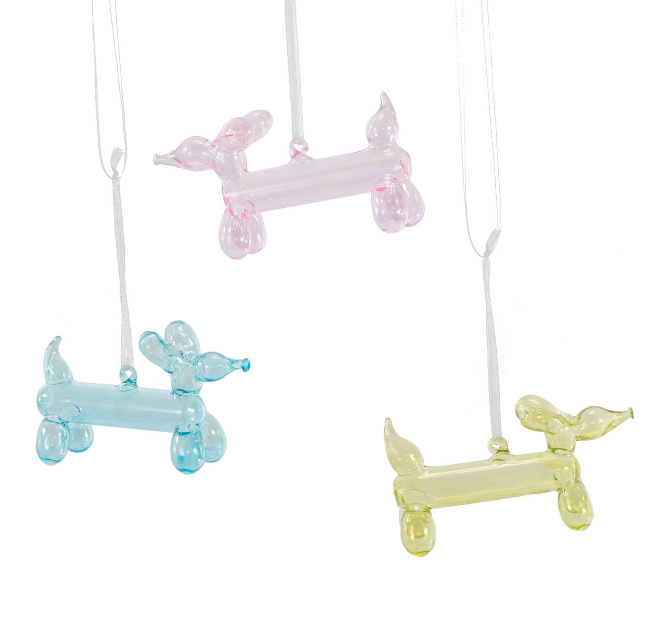 Katherine's Collection Retro Balloon Dog Ornaments Set of 3