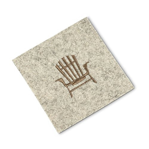 Embroidered Adirondack Chair Drink Coasters (Set/4)