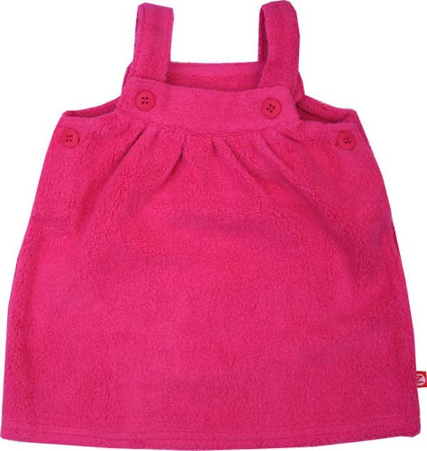 Zutano Fuchsia Fleece Baby Jumper Dress