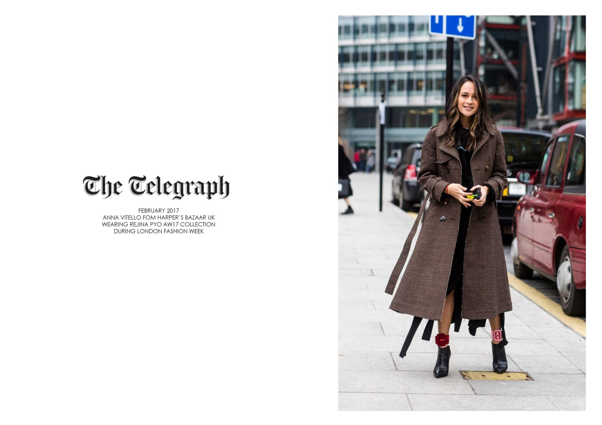 THE TELEGRAPH ONLINE: FEATURING REJINA PYO AW17 COLLECTION DURING LFW