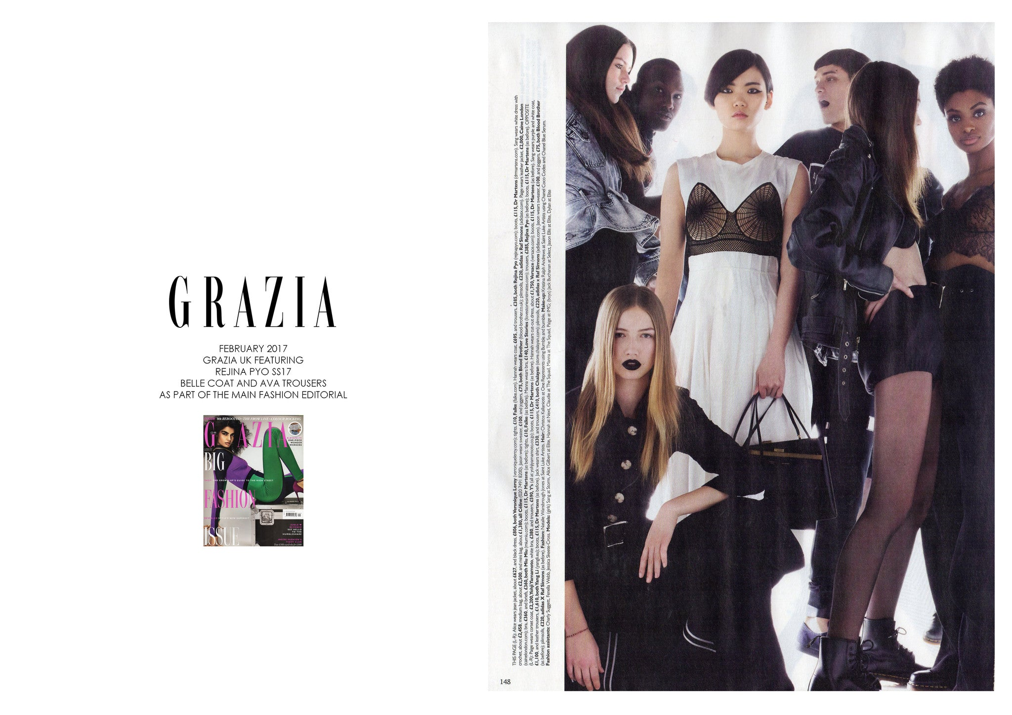 GRAZIA UK: FEATURING REJINA PYO SS17 COLLECTION AS PART OF A FASHION EDITORIAL