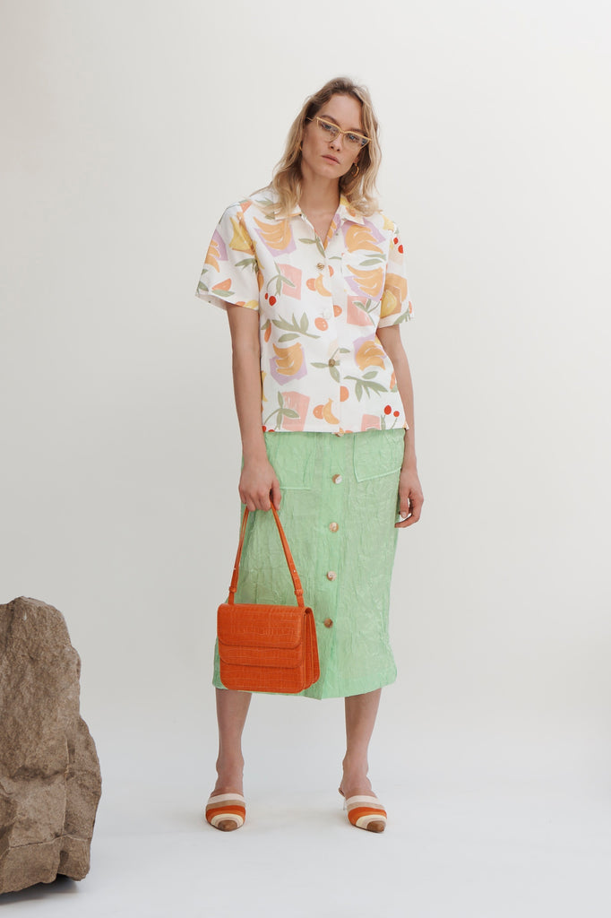PRE-ORDER / Mila Jersey Cotton Bamboo Print Fruit T-shirt