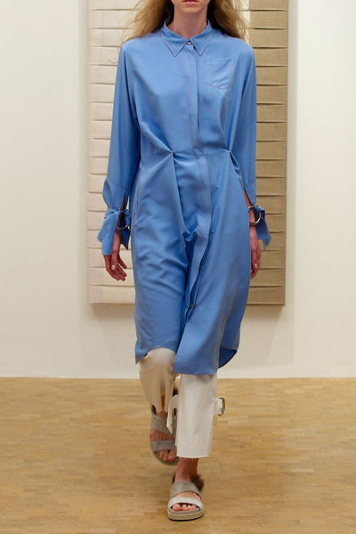 Evie Silk Shirt Dress