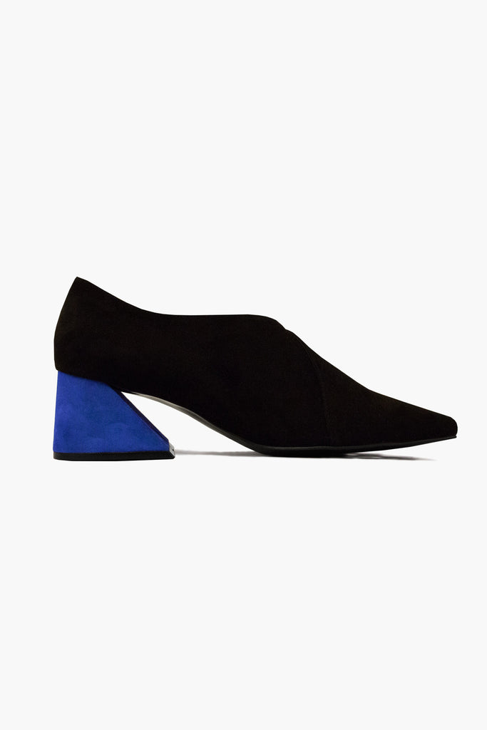 PRE ORDER / Black Suede Upper with Blue Heel
