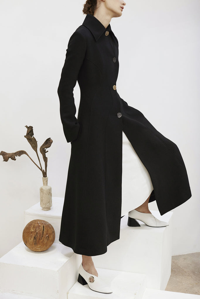 Linda Long Panelled Coat