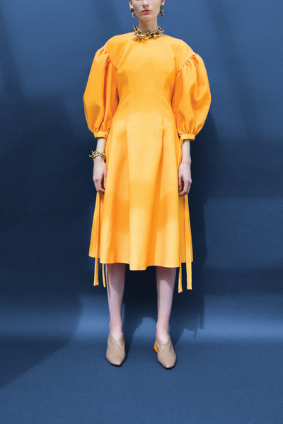 Jamie Marigold Puff Sleeve Dress
