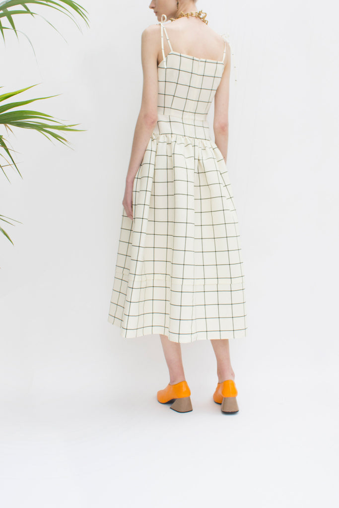 Issy Check Wool Strap Dress