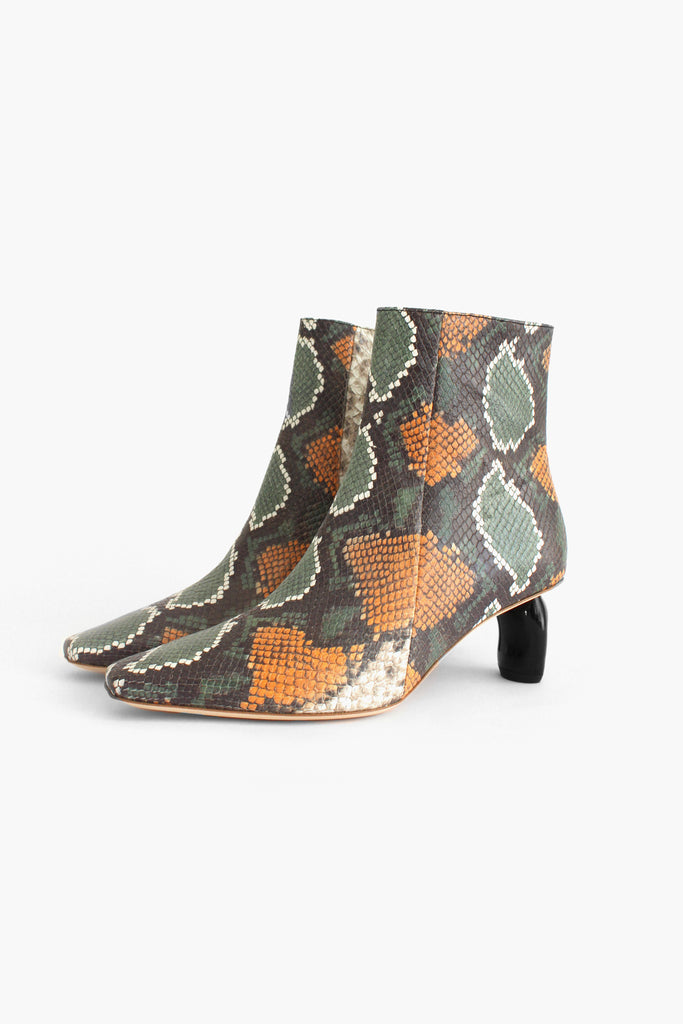 Annie Boot Snake Multi with Black Heel