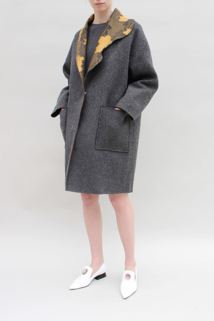 Lucia Reversible Jacquard Coat