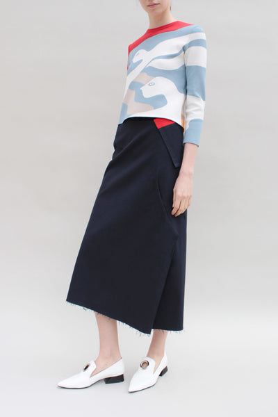 Renata Abstract Draped Skirt