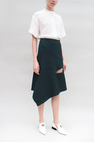 Dark Teal Panel Skirt