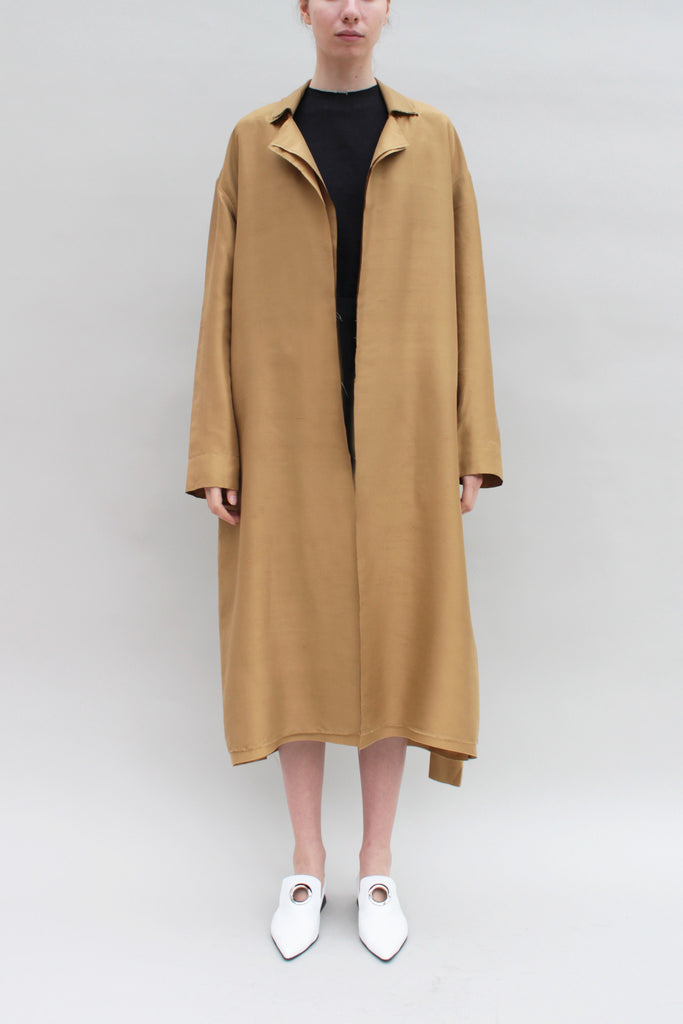 Light Tan Silk Trench
