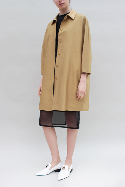 Light Tan Silk Overcoat