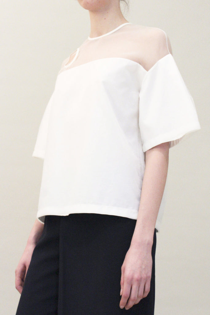 Betty Drop Shoulder Organza Top