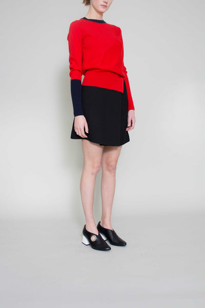 Pippa Wool Red Crew Neck