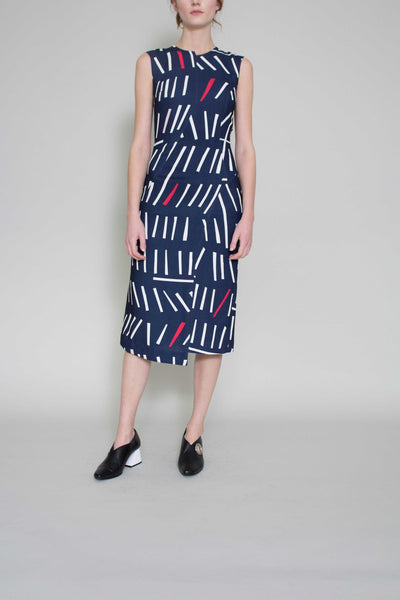 Dana Abstract Print Dress