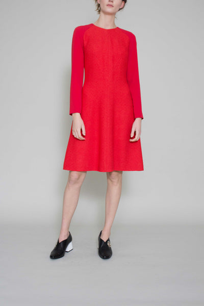 Sophie Red Crepe Dress